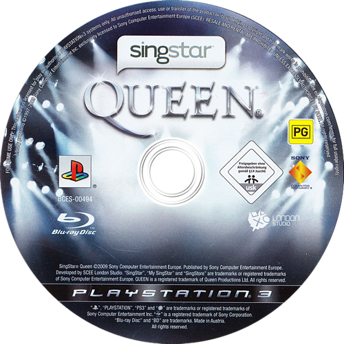 SingStar: Queen PS3 discM (BCES00494)