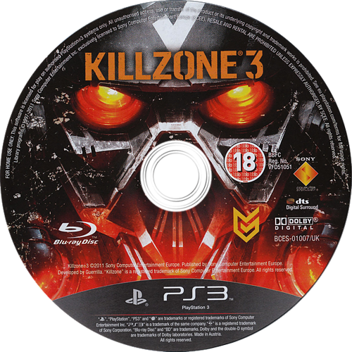 Killzone 3 PS3 discM (BCES01007)