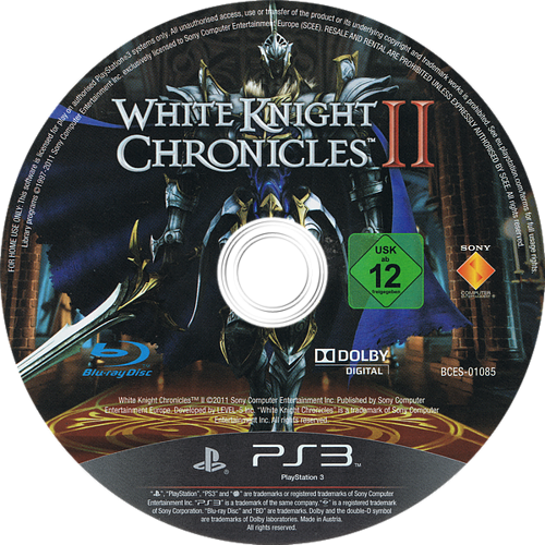 White Knight Chronicles II PS3 discM (BCES01085)
