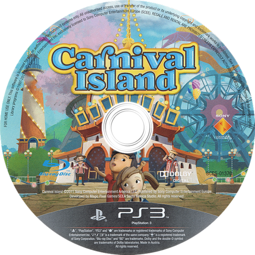 Carnival Island PS3 discM (BCES01370)