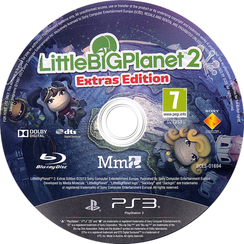 LittleBigPlanet 2 (Extras Edition) PS3 discM (BCES01694)