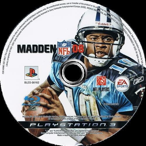 Madden NFL 08 PS3 discM (BLES00102)