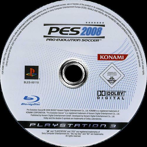 Pro Evolution Soccer 2008 PS3 discM (BLES00110)