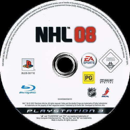 NHL 08 PS3 discM (BLES00118)