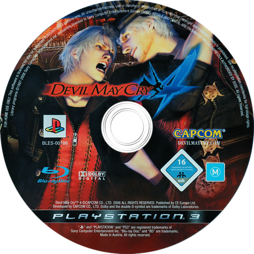 Devil May Cry 4 PS3 discM (BLES00186)