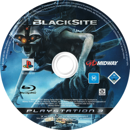 BlackSite PS3 discM (BLES00191)