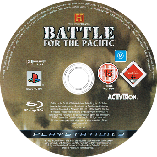 The History Channel: Battle for the Pacific PS3 discM (BLES00194)