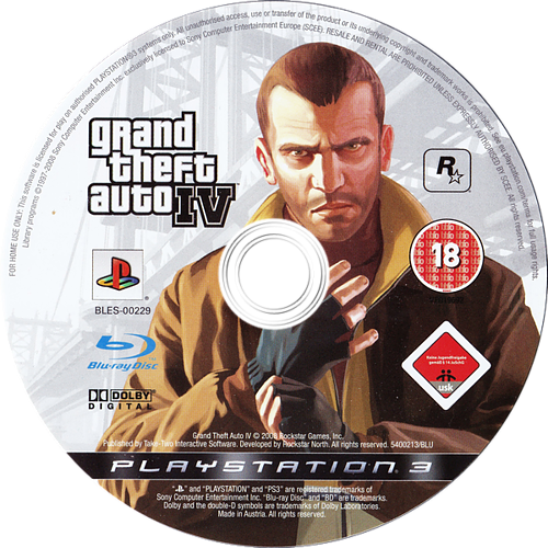 Grand Theft Auto IV PS3 discM (BLES00229)
