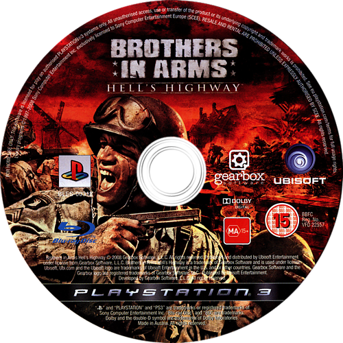Brothers in Arms: Hell's Highway PS3 discM (BLES00318)