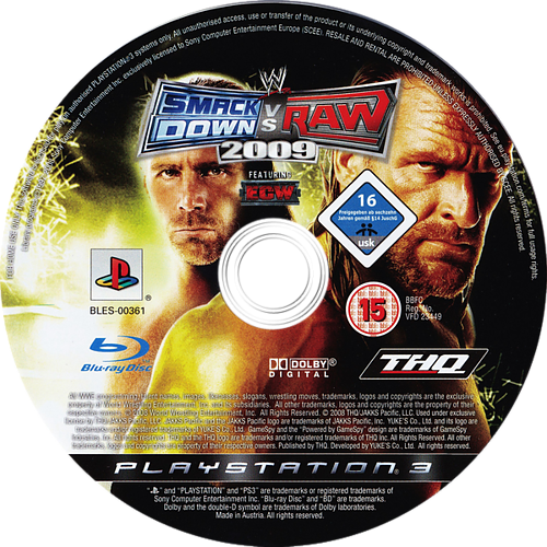 WWE Smackdown vs Raw 2009 PS3 discM (BLES00361)