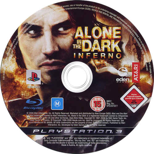 Alone in the Dark: Inferno PS3 discM (BLES00422)