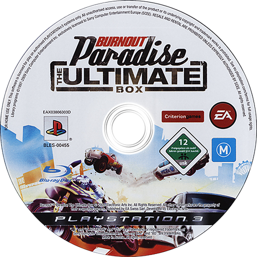 Burnout Paradise: The Ultimate Box PS3 discM (BLES00455)