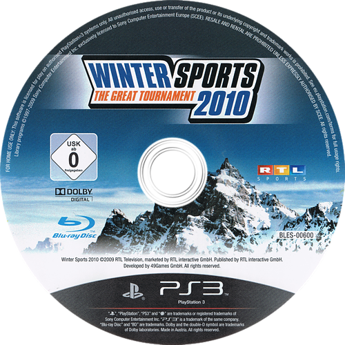 Winter Sports 2010: The Great Tournament PS3 discM (BLES00600)