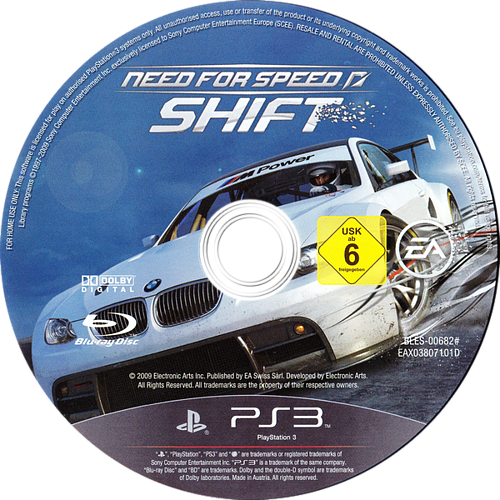 Need for Speed Shift PS3 discM (BLES00682)