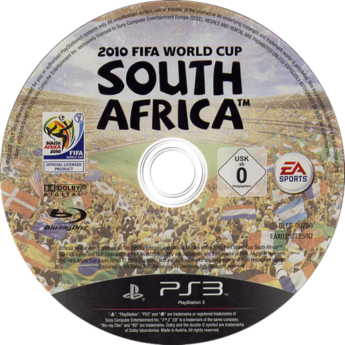 2010 FIFA World Cup South Africa PS3 discM (BLES00796)