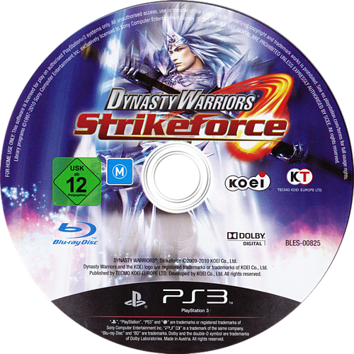 Dynasty Warriors: Strikeforce PS3 discM (BLES00825)