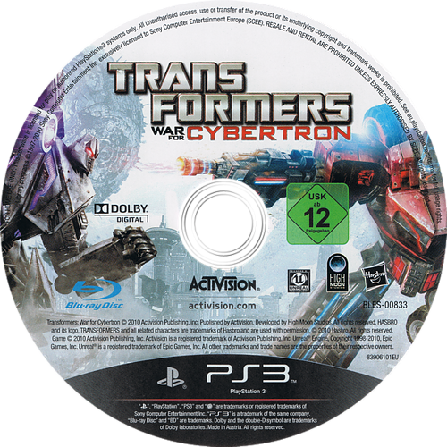 Transformers: War for Cybertron PS3 discM (BLES00833)