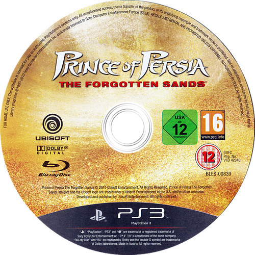 Prince of Persia: The Forgotten Sands PS3 discM (BLES00839)