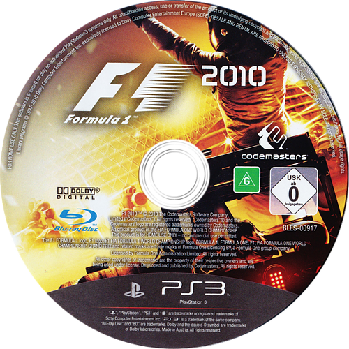 F1 2010 PS3 discM (BLES00917)