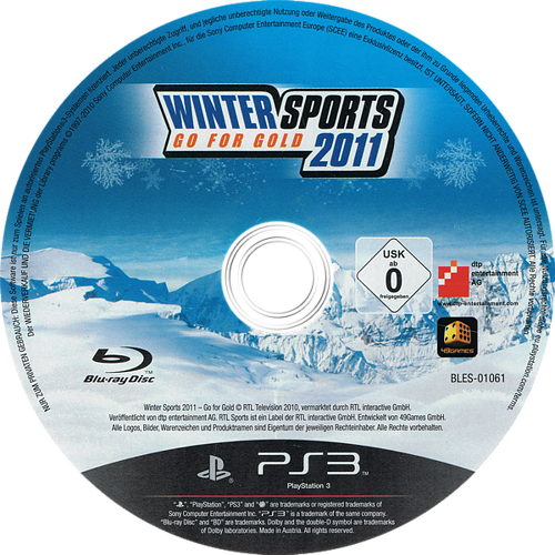 Winter Sports 2011: Go for Gold PS3 discM (BLES01061)