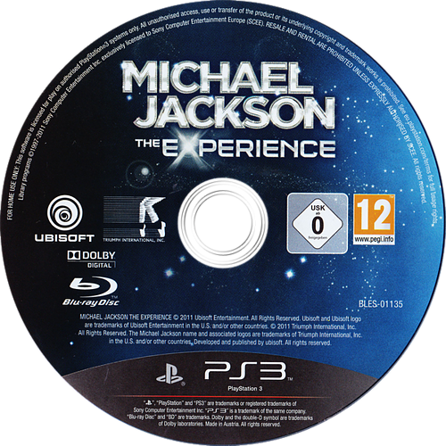 Michael Jackson: The Experience PS3 discM (BLES01135)