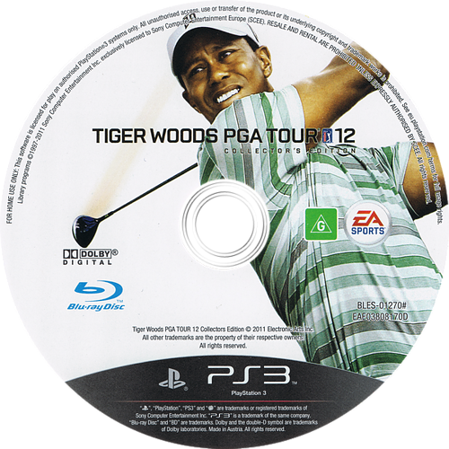 Tiger Woods PGA Tour 12: The Masters PS3 discM (BLES01270)