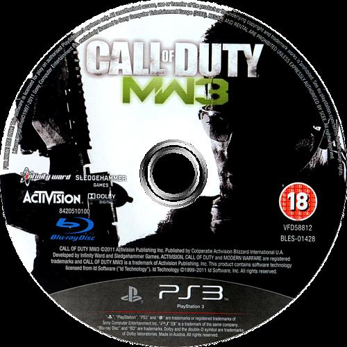 Call of Duty: Modern Warfare 3 PS3 discM (BLES01428)