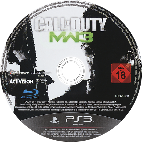 Call of Duty: Modern Warfare 3 PS3 discM (BLES01431)