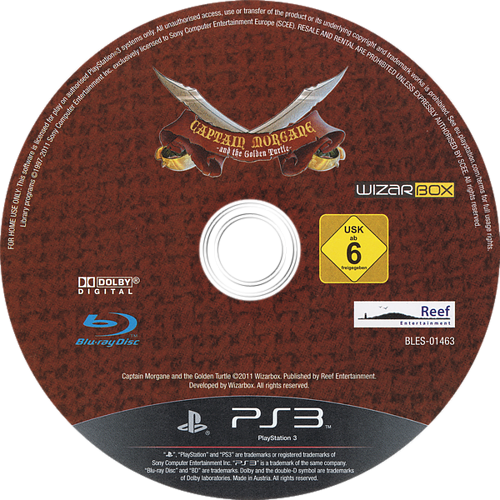 Captain Morgane and the Golden Turtle PS3 discM (BLES01463)