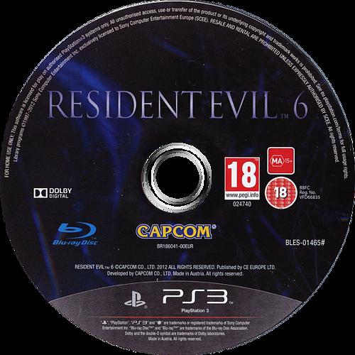 Resident Evil 6 PS3 discM (BLES01465)