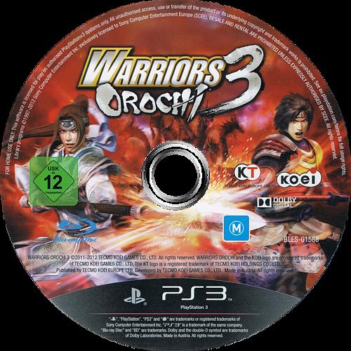 Warriors Orochi 3 PS3 discM (BLES01588)