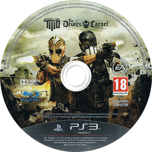 Army of Two: The Devil's Cartel PS3 discM (BLES01763)