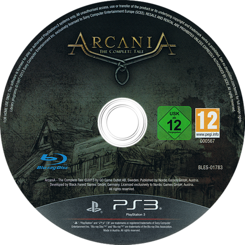 Arcania: The Complete Tale PS3 discM (BLES01783)