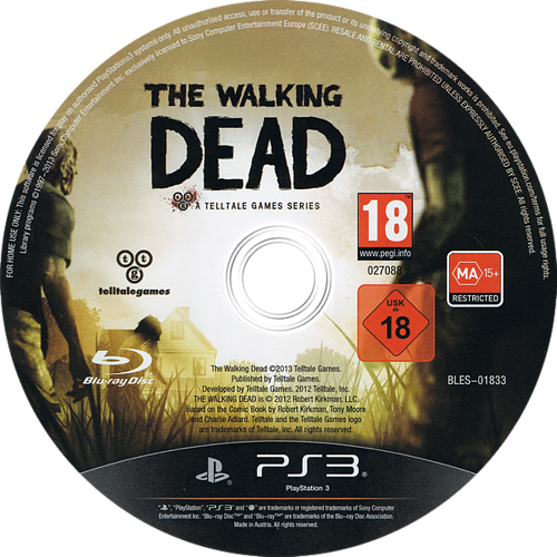 The Walking Dead: A Telltale Games Series PS3 discM (BLES01833)
