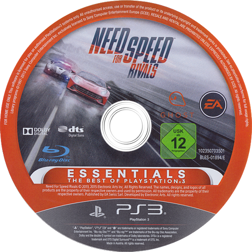 Need for Speed: Rivals PS3 discM (BLES01894)