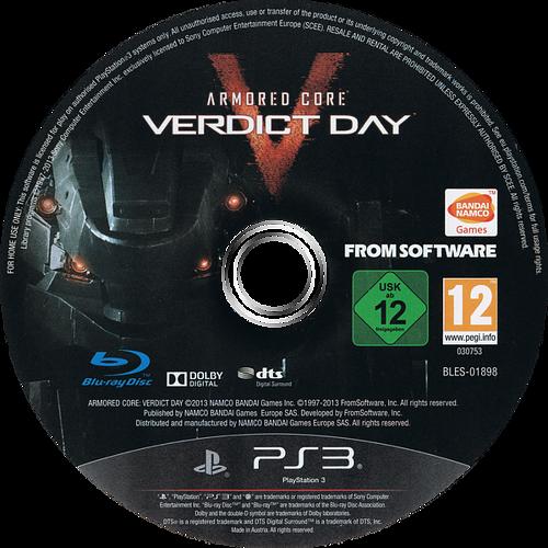 Armored Core: Verdict Day PS3 discM (BLES01898)