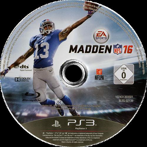 Madden NFL 16 PS3 discM (BLES02139)