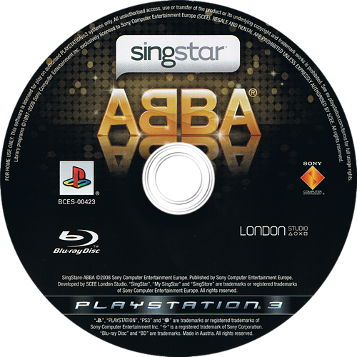 SingStar ABBA PS3 discM (BCES00423)