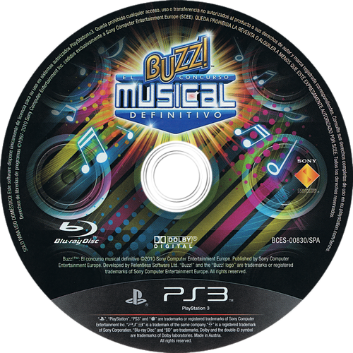Buzz! El Concurso Musical Definitivo PS3 discM (BCES00830)