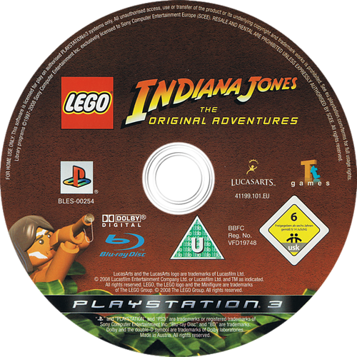 LEGO Indiana Jones: La Trilogía Original PS3 discM (BLES00254)