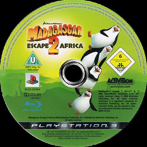 Madagascar 2 PS3 discM (BLES00394)
