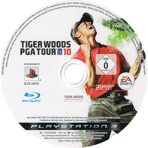 Tiger Woods PGA Tour 10 PS3 discM (BLES00530)