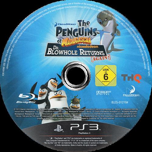 Los Pingüinos de Madagascar: El regreso del Dr. Espiráculo PS3 discM (BLES01219)