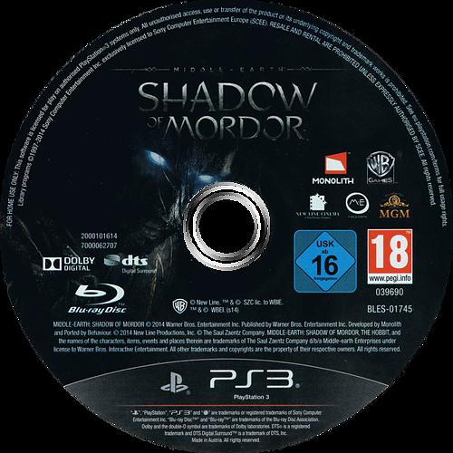 La Tierra-Media: Sombras de Mordor PS3 discM (BLES01745)