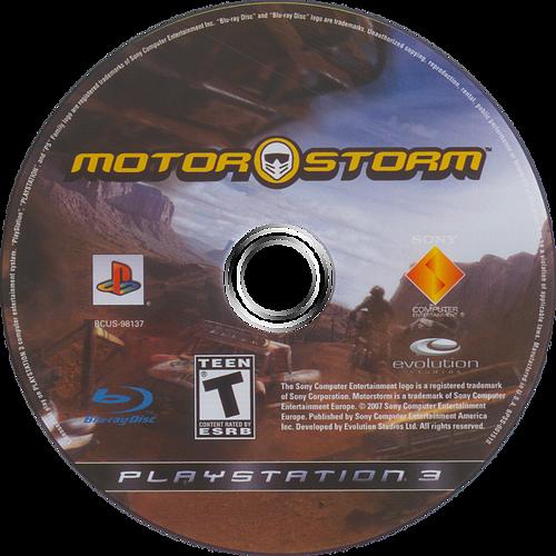 MotorStorm PS3 discM (BCUS98137)