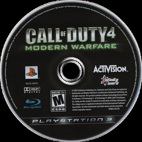 Call of Duty 4: Modern Warfare PS3 discM (BLUS30072)
