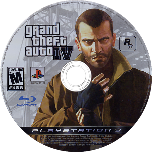 Grand Theft Auto IV PS3 discM (BLUS30127)