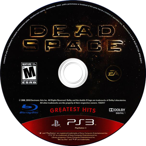 Dead Space PS3 discM (BLUS30177)