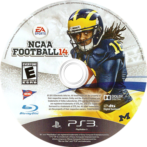 NCAA Football 14 PS3 discM (BLUS31159)