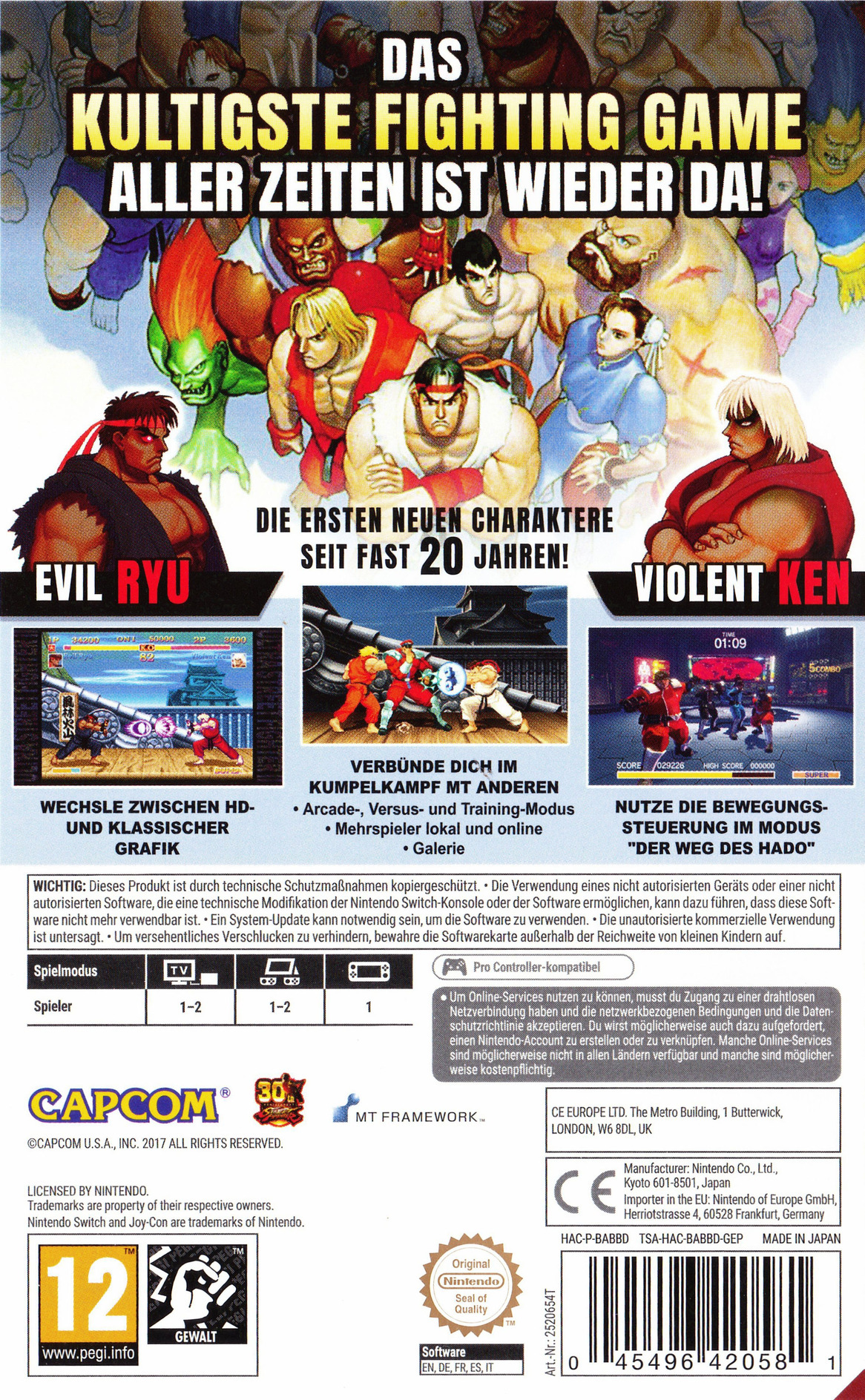 Ultra Street Fighter II: The Final Challengers Switch backHQ (BABBD)